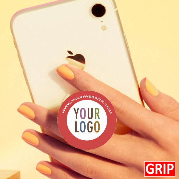 business logo on a pop phone socket