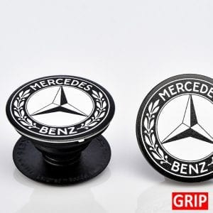 Get your logo or event logo on a pound inexpensive pop phone socket stand smartphone grip. Factory direct. Perfect for trade shows, b2b marketing and marketing branding giveaways. Mercedes Benz Logo