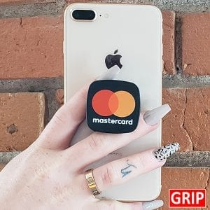 square pop phone sockets for business logo promotional giveaway
