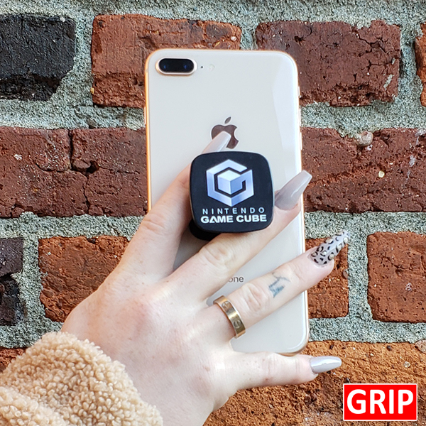 Nintendo square pop phone sockets for business logo promotional giveaway and trade show