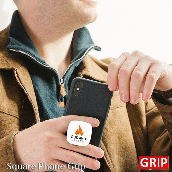 Get your business or event logo on the Square Grip phone stand! Got a Square logo? Your logo or branding message can be professionally imprinted in glorious 4-color digital color on our best selling Square Grip. All logo's are Pantone matched for accuracy. Simply provide us with your Pantone color and we will send you a virtual proof prior to the start of production.