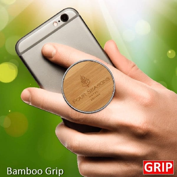 bamboo wooden phone socket stand and media grip