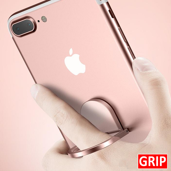 Rose pink fidget spinner phone holder and ring kickstand