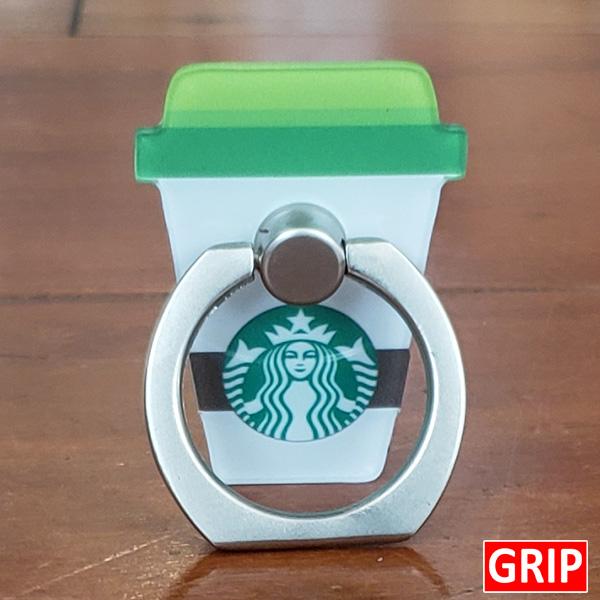 Starbucks coffee cup phone grip. Custom acrylic ring phone holder