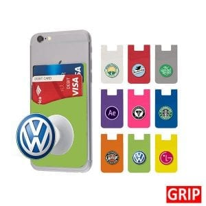green pop wallet phone stand silicone promotional marketing giveaway