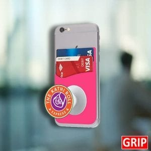 pink pop phone stand wallet