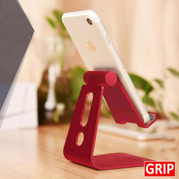 red desktop adjustable phone stand for business marketing