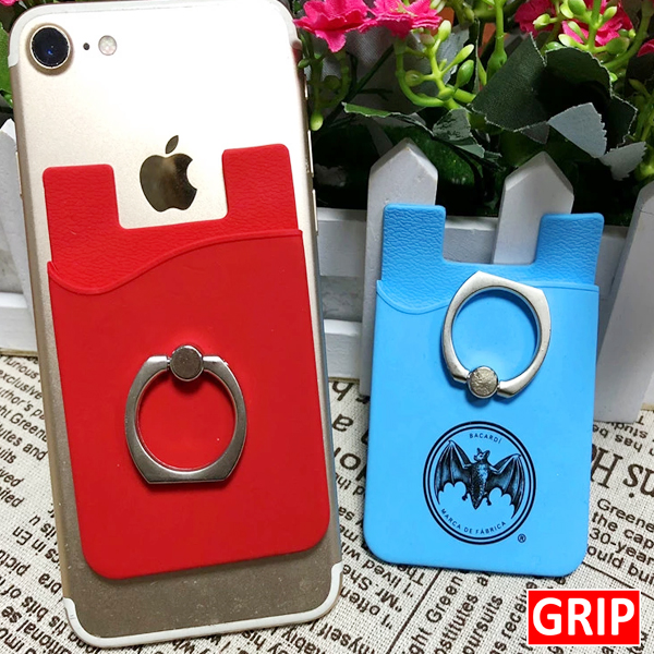 GRIP. Get Your Logo On a Silicone Phone Wallet with Ring Holder. Perfect for Trade Shows, B2b Marketing and Promotional products. Get Your Logo On It For Less. Call Toll Free 1-888-908-6932.