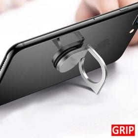 silver spinner smartphone holder and ring kickstand